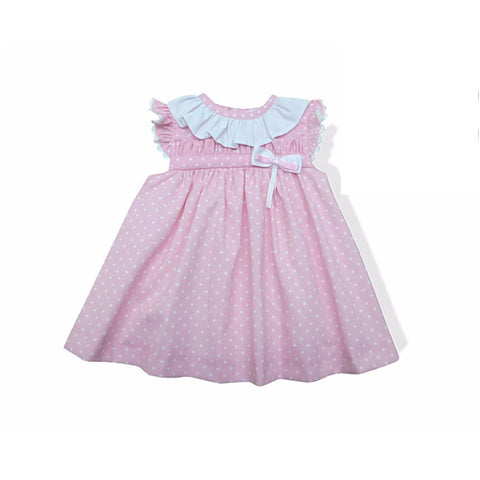 Dotty Dress - Doodles and Daisy Chains - Spanish Baby Clothes - Classic Baby Boutique