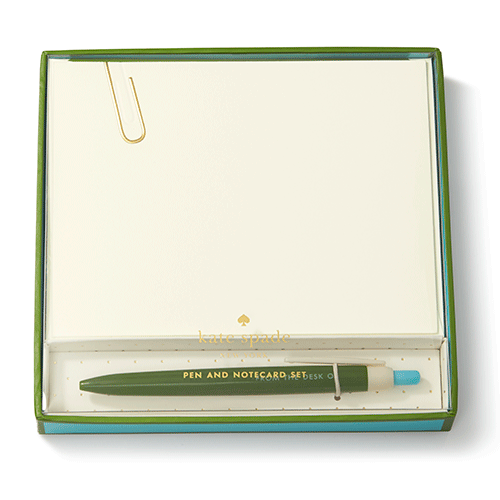 From The Desk of Pen & Notecard Set - Pi Style Boutique - Lifeguard Press