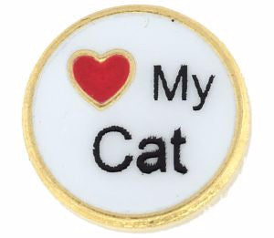 I Love My Cat Charm - Pi Style Boutique - Center Court