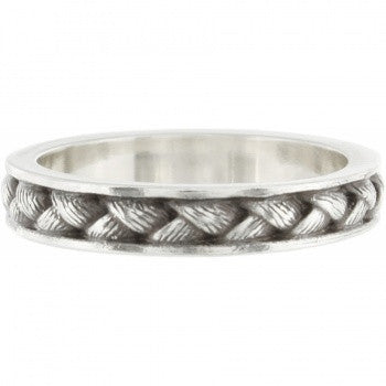 """Cable"" (silver) - Brighton Stacking Ring - Pi Style Boutique - Brighton"