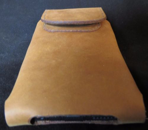 HANDMADE LEATHER PHONE CASE with WALLET iPhone Plus Galaxy LG Samsung Belt Holster USA