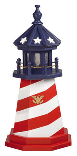 PATRIOTIC CAPE HATTERAS LIGHTHOUSE - Red White & Blue Working Light