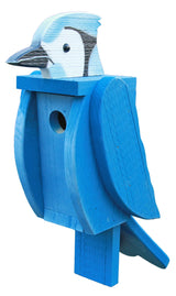 BLUE JAY BIRDHOUSE - Large Amish Handmade Bird House