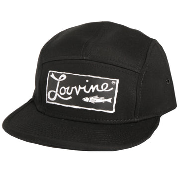 Louvine 'OG' logo 5 Panel Black Cap