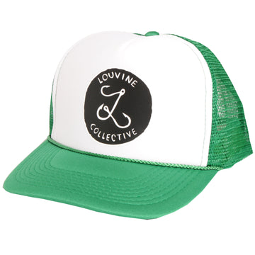 Louvine 'OG' logo trucker GREEN/WHITE