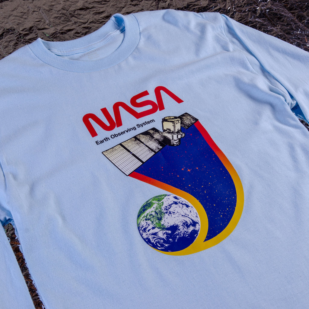 NASA EARTH OBSERVER FRONT PRINT LONG SLEEVE TEE