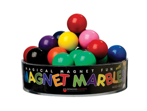 20 Solid-Colored Magnet Marbles
