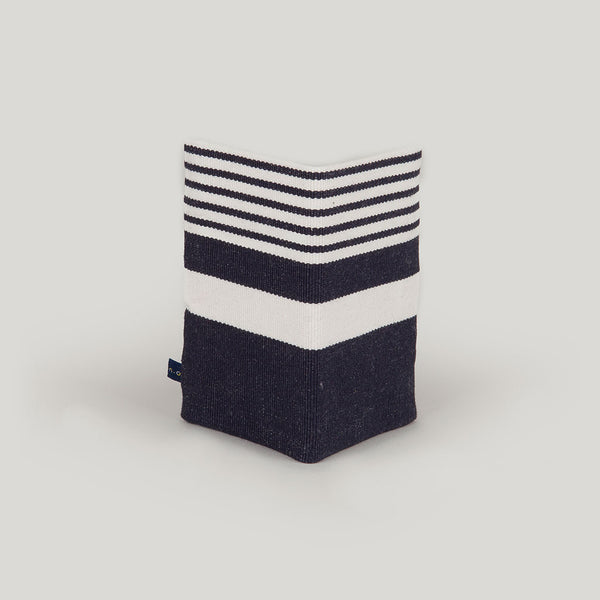 Travel Wallet Nautical Stripe - navy blue & navy