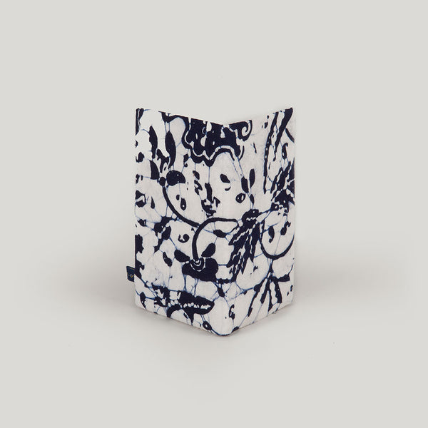 Marbled Batik <br/> Navy Blue & White