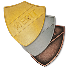 Merit Metal Shield Badge by School Badges UK