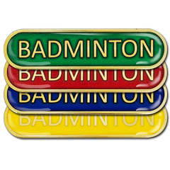 Badminton Bar Badge by School Badges UK