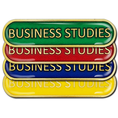 Business Studies Bar Badge by School Badges UK