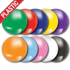 'Plain' Plastic Button Badge (Pack of 25) by School Badges UK