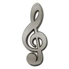 Musical Clef Badge by School Badges UK