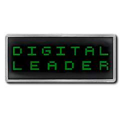 Digital Leader Pixel Badge by School Badges UK