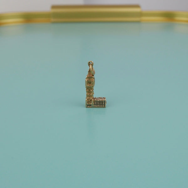 Big Ben at Westminster Palace Gold Charm