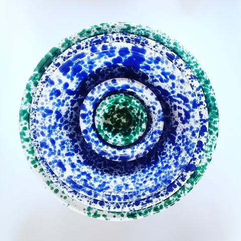 Splatterware Bowl - Blue Bowl