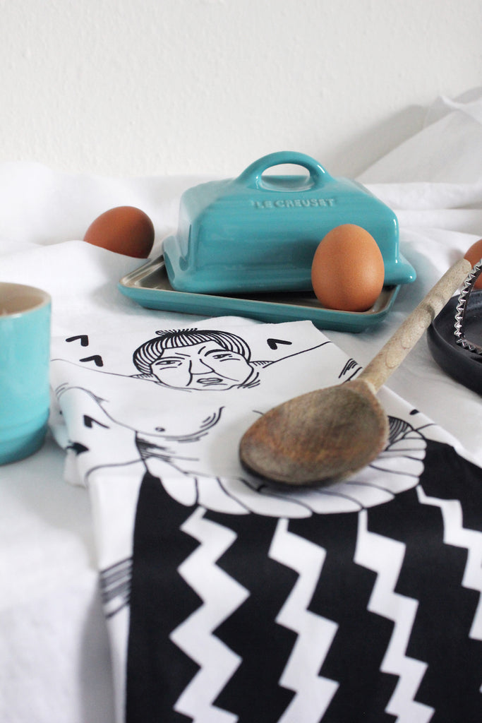 Sumo Tea Towels by Safomasi sold by indie online gift shop Postcards Home