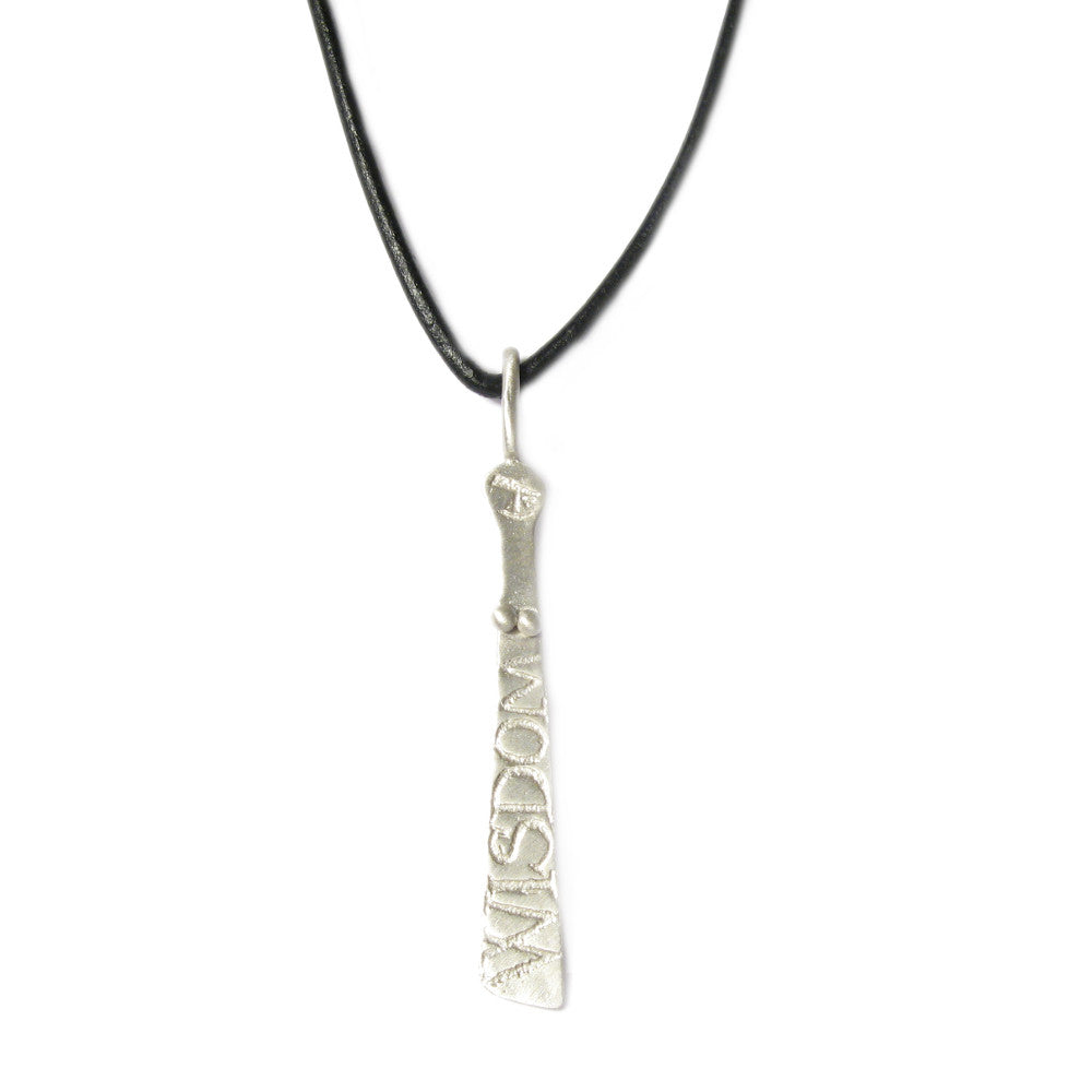Diana Porter Jewellery contemporary etched sibyl pendant