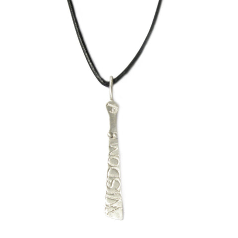 Silver Sibyl Pendant on Leather Thong