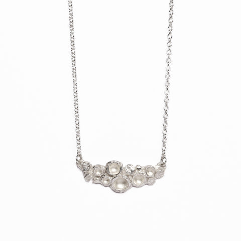 Silver 'Emerge' Bud Necklace