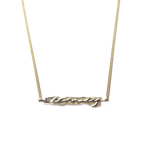 9ct Yellow Gold 'Eternity' Necklace