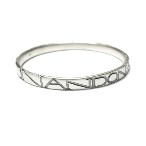 Wide Silver 'ON AND ON' Bangle