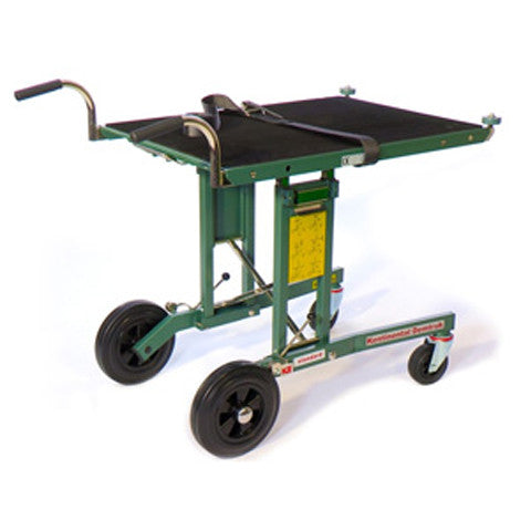 Standard Demtruk Folding Cart with Roll-Off Platform 500 pound load capacity and solid rubber tires - Salesmaker Carts