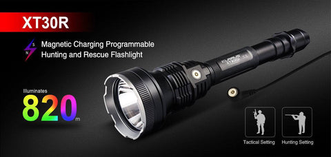 KLARUS Tactical XT30R 1800LM CREE XHP35 D4 LED USB Rechargeable Flashlight New