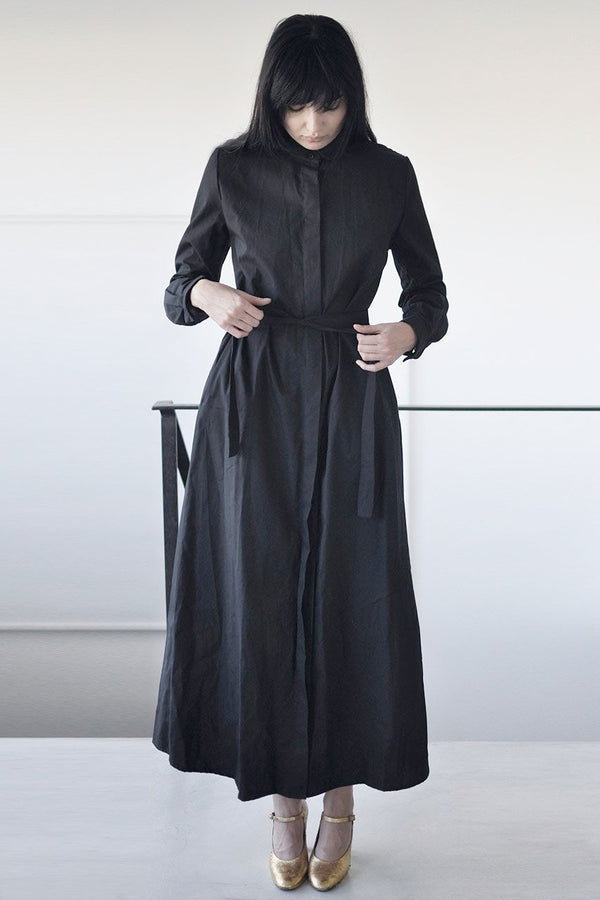 TAILORED MAXI DRESS - BLACK