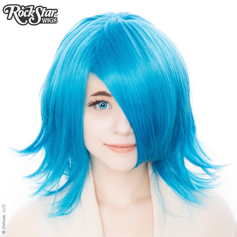 Cosplay Wigs USA™ <br> Boy Cut Shag - Aqua Sky Blue -00300