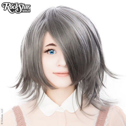 Cosplay Wigs USA™ <br> Boy Cut Shag - Dark Grey Mix -00301