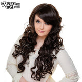 "Cosplay Wigs USA™ <br> Curly 70cm/28"" - Dark Brown -00306"
