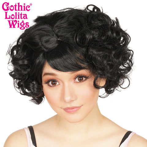 Gothic Lolita Wigs® <br> Curly Bob™ - 00018 Black Mix
