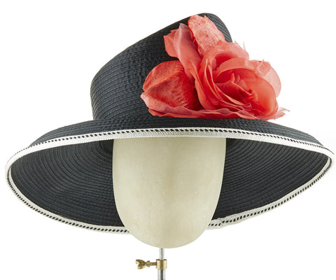 The Diana (Black) - hat designed by LD Carey Designs - Rent The Races  - 1