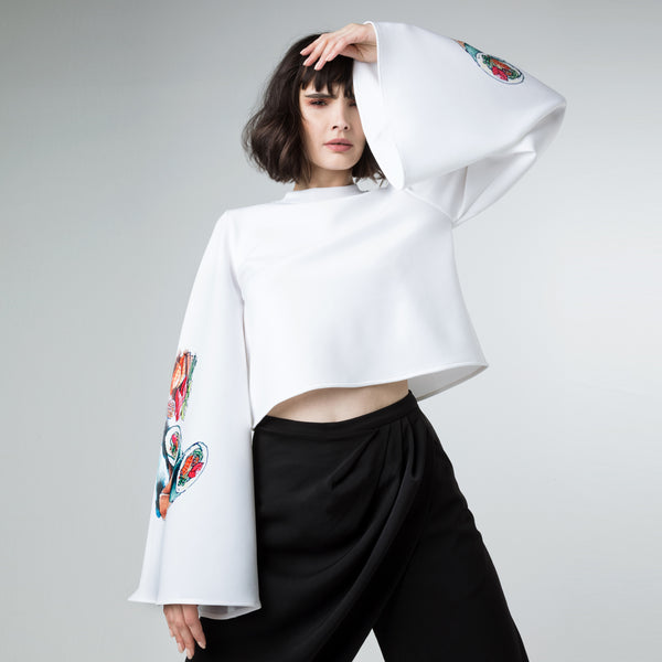 Volume Sleeve Sushi Top