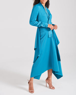 Teal Layered Dress