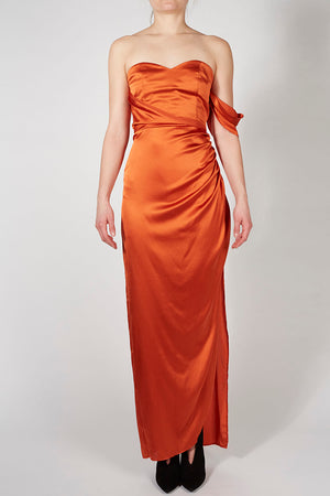 Silk Draped Gown