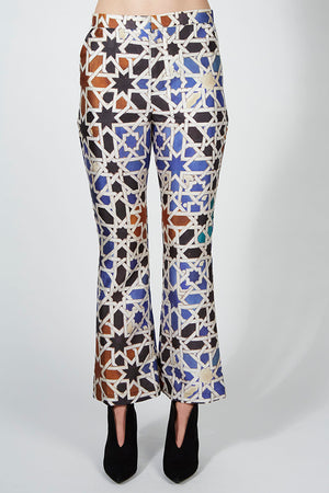 Moroccan Print Flare Pants