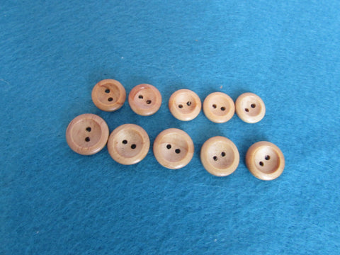 14MM & 16MM ROUND WOODEN BUTTONS