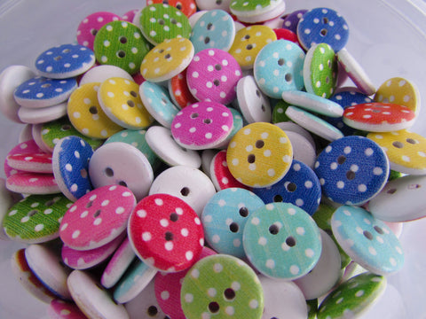 15mm Wooden Spot Buttons