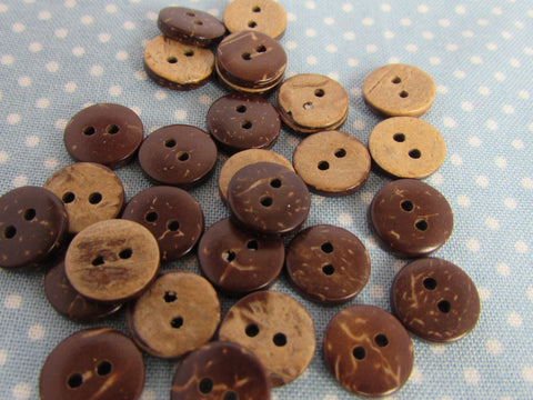 10mm Coconut Shell Buttons