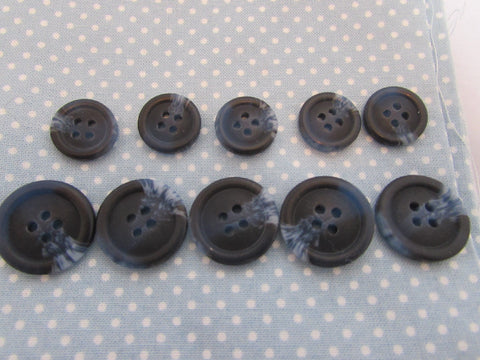 15MM & 20MM NAVY COAT BUTTONS