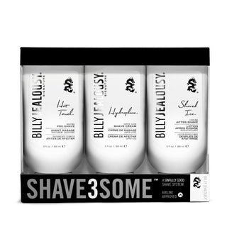 Billy Jealousy SHAVE3SOME Travel-Size Shave Trio Shaving Kit Billy Jealousy