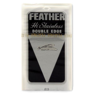 10 Black Feather Double-Edge Safety Razor Blades Razor Blades Feather