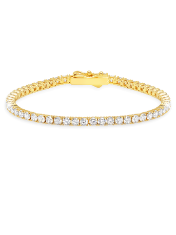 Classic Medium Brilliant Tennis Bracelet Finished in 18KT Gold