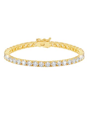 Classic Large Brilliant Tennis Bracelet Finished in 18KT Gold