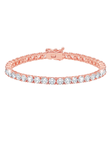 Classic Large Brilliant Tennis Bracelet Finished in 18KT Rose Gold
