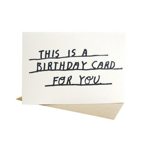Birthday Card For You