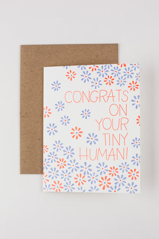 Congrats on Your Tiny Human! Baby Card
